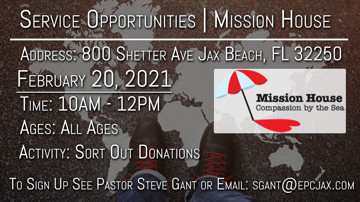 Local Mission Opportunity: Mission House