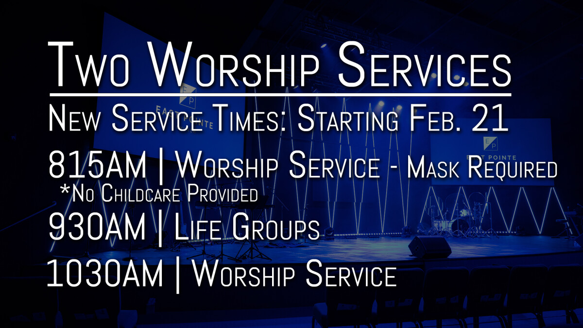 Early Worship Service (Mask Required)