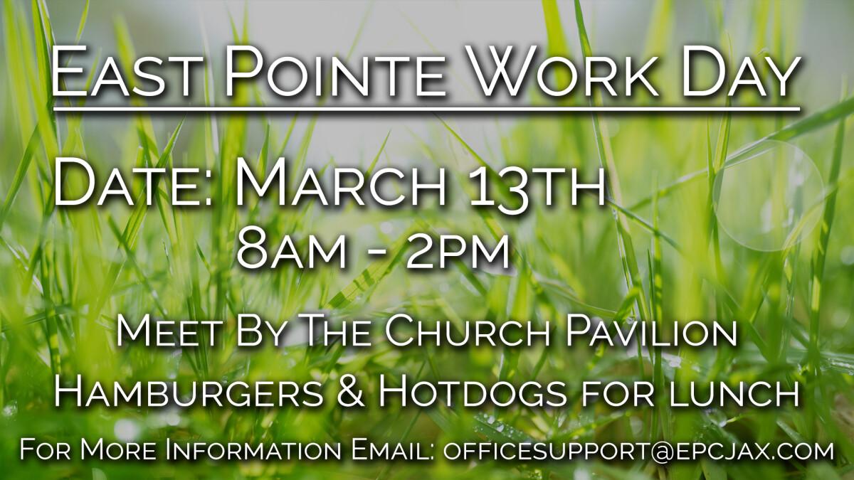 CHURCH WORK DAY!