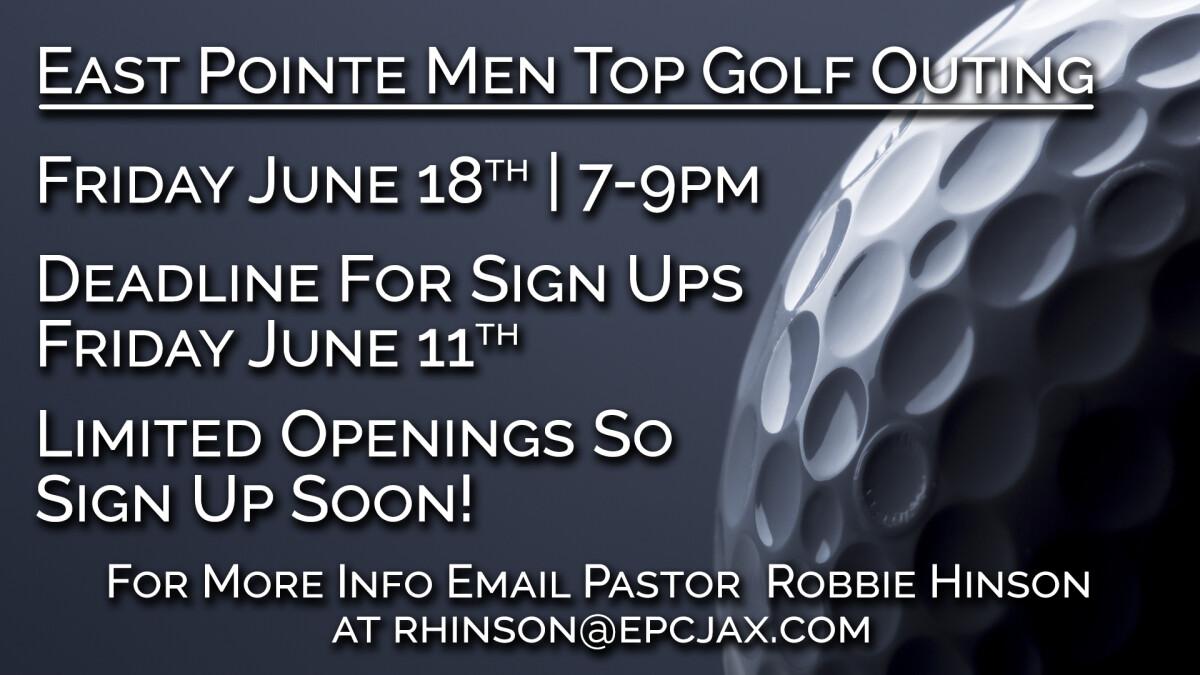 Men's Event - Top Golf